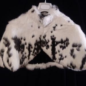 Rabbit Fur Stole with free Chinchilla key chain